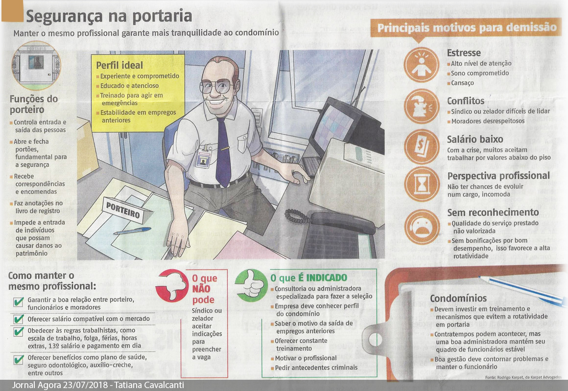 Reportagem do Jornal Agora comprova: o melhor para as portarias é ter funcionários próprios