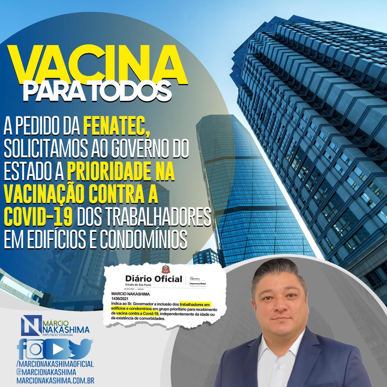 DEPUTADO LEVA PEDIDO DE VACINAÇÃO AO GOVERNADOR