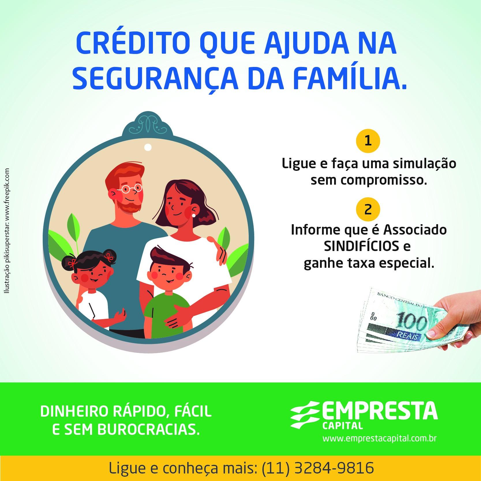 Crédito que ajuda na segurança da família