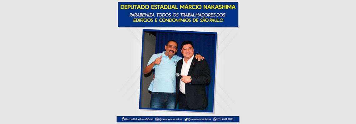 Deputado Estadual Márcio Nakashima parabeniza todos os trabalhadores de edifícios e condomínios de São Paulo